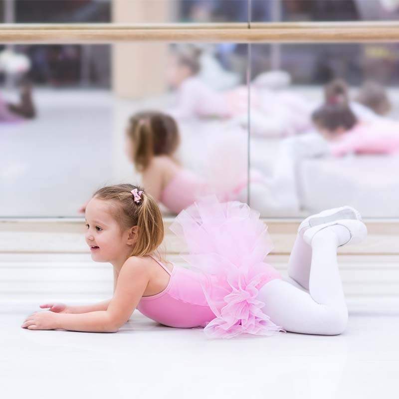 Little Ballerina on Floor