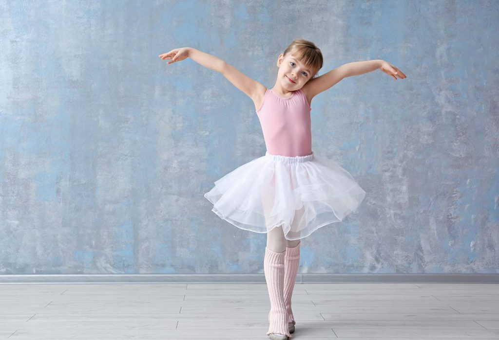 Little Ballerina in Dance Studio